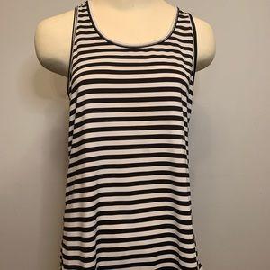 Joe Fresh Black and White Striped Tank Top